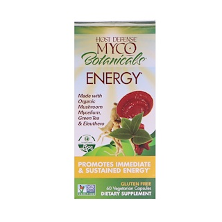 Fungi Perfecti, MycoBotanicals, Energy, 60 Vegetarian Capsules