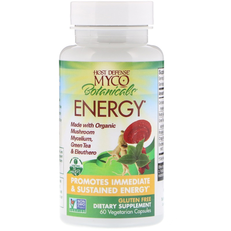 Fungi Perfecti, MycoBotanicals, Energy, 60 Vegetarian Capsules - photo 2