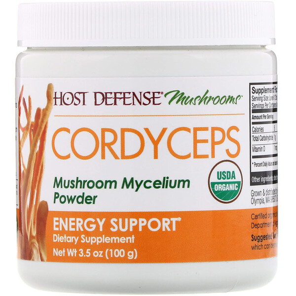 Cordyceps, Mushroom Mycelium Powder, Energy Support, 3.5 oz (100 g)