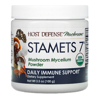 Fungi Perfecti, Stamets 7, 버섯균사체 분말, 데일리 면역 지원, 100g(3.5oz)