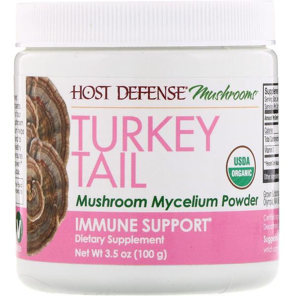 Fungi Perfecti, Turkey Tail, Mushroom Mycelium Powder, Immune Support, 3.5 oz (100 g)