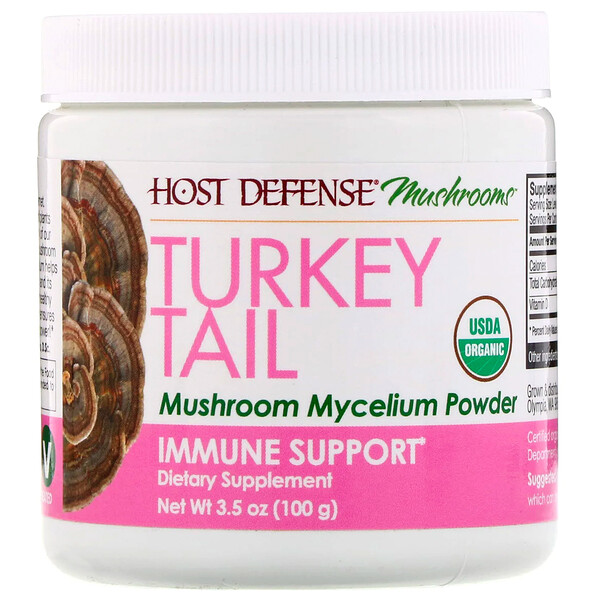 Turkey Tail, Mushroom Mycelium Powder, Immune Support, 3.5 oz (100 g)