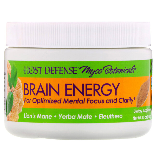 Fungi Perfecti, Myco Botanicals, Brain Energy, 3.5 oz (100 g)