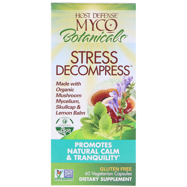 MycoBotanicals, Stress Decompress, 60 Vegetarian Capsules