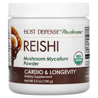 Fungi Perfecti, Reishi, Mushroom Mycelium Powder, Cardio & Longevity, 3.5 oz (100 g)