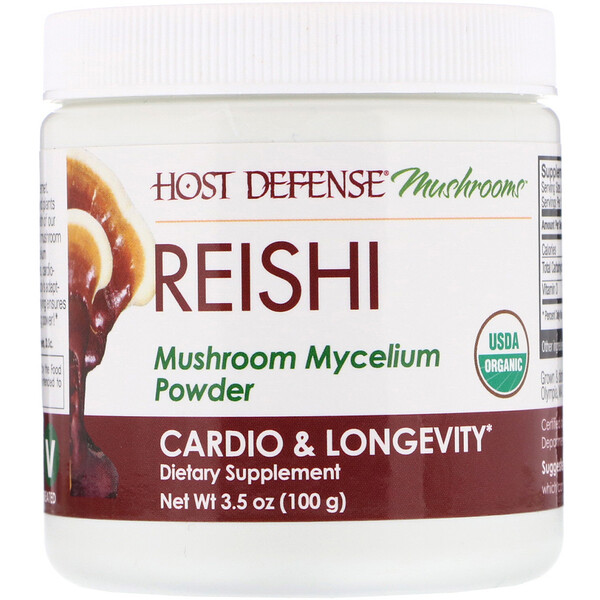 Fungi Perfecti, Reishi, Mushroom Mycelium Powder, Cardio & Longevity, 3.5 oz (100 g)