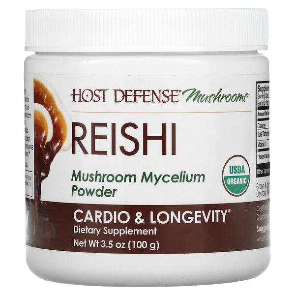 Reishi, Mushroom Mycelium Powder, Cardio & Longevity, 3.5 oz (100 g)