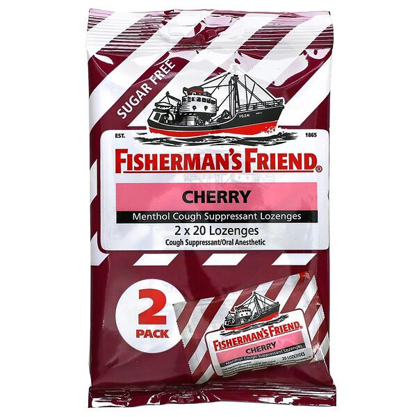 Menthol Cough Suppressant Lozenges, Sugar Free, Cherry, 40 Lozenges