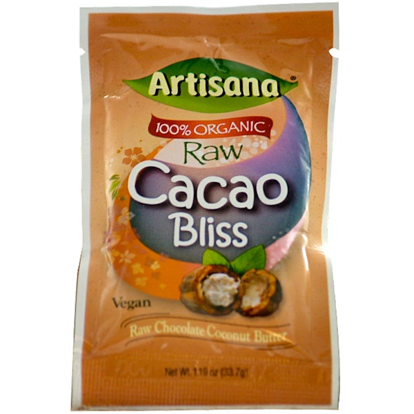 Special, Artisana, 100% Organic Raw Cacao Bliss, Raw Chocolate Coconut Butter, 1.19 oz (33.7 g) (Discontinued Item)