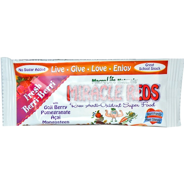 Special, Miracle Reds, Raw Anti-Oxidant Super Food Bar, Fresh Berri-Berri, 1.5 oz (42 g) (Discontinued Item)