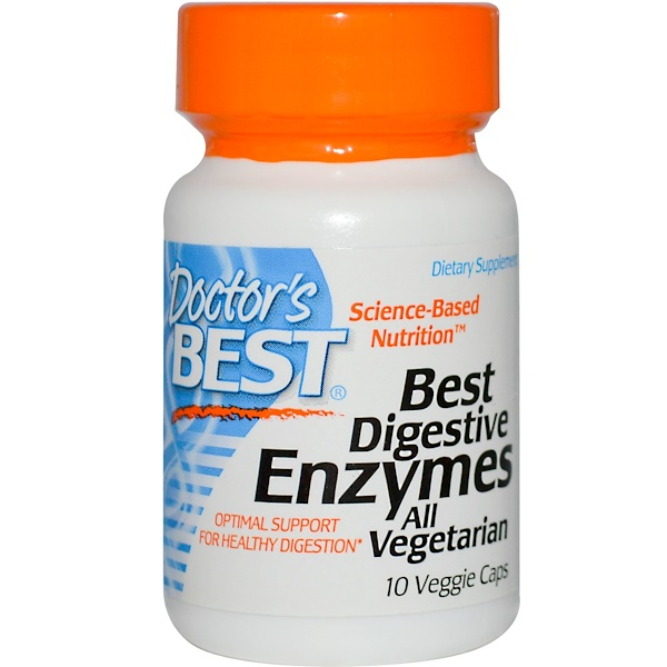Doctor's Best, Doctor's Best, Best Digestive Enzymes All Vegetarian, 10 Veggie Caps (Discontinued Item)
