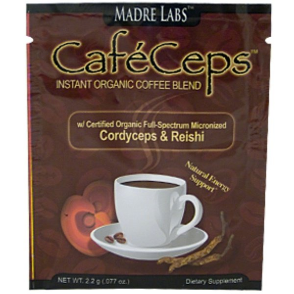 Special, Madre Labs, CaféCeps Instant Organic Coffee Blend, 1 Packet, 2.2 g (.077 oz) Each (Discontinued Item)