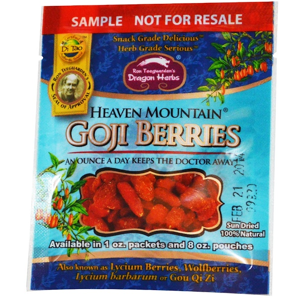 Special, Dragon Herbs, Heaven Mountain Goji-To-Go, 0.5 oz (14 g) (Discontinued Item)