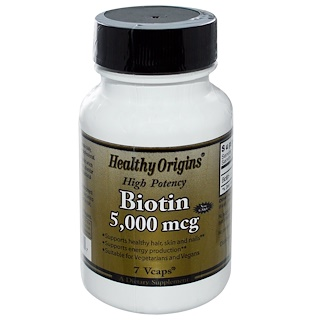 Special, Healthy Origins, Biotin, High Potency, 5000 mcg, 7 Vcaps