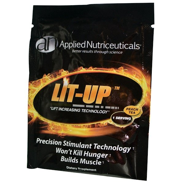 "Special, Applied Nutriceuticals Inc., Lit-Up ""Lift Increasing Technology"", персиковый чай, 1 порция (Discontinued Item)"
