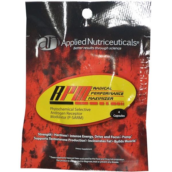 Special, Applied Nutriceuticals Inc., RPM Radical Performance Maximizer, 4 Capsules (Discontinued Item)