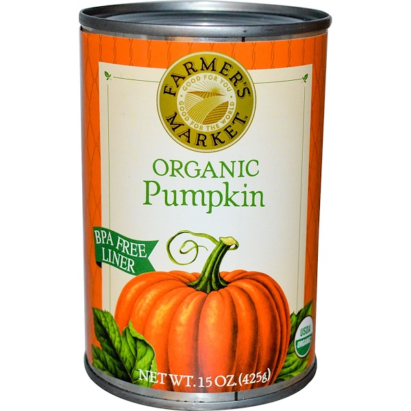 Farmer's Market Foods, Organic Pumpkin, 15 oz (425 g) (Discontinued Item)