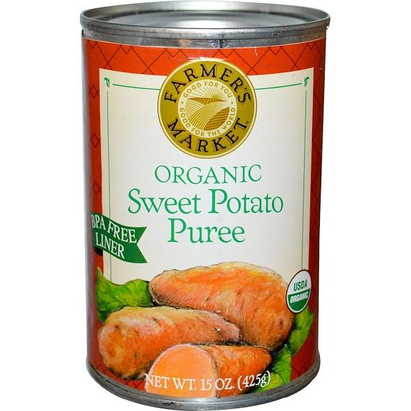 Farmer's Market Foods, Organic Sweet Potato Puree, 15 oz (425 g) (Discontinued Item)