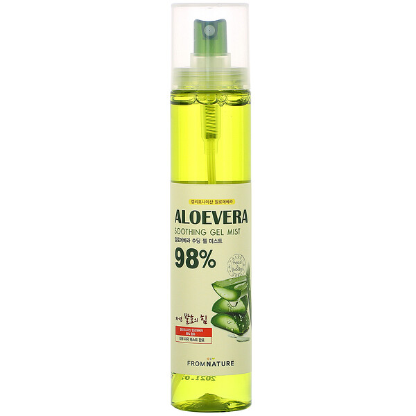 Aloe Vera, 98% Soothing Gel Mist, 120 ml