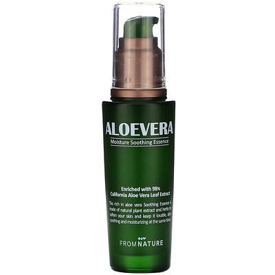 Купить FromNature Aloe Vera, 98%, Moisture Soothing Essence, 50 ml