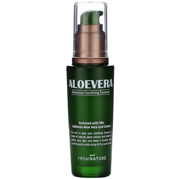 Aloe Vera, 98%, Moisture Soothing Essence, 50 ml