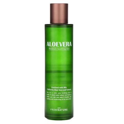 Купить FromNature Aloe Vera, 98% Moisture Soothing Skin, 150 ml