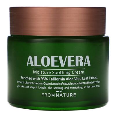 Купить FromNature Aloe Vera, 93%, Moisture Soothing Cream, 80 ml