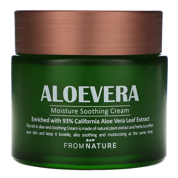 Aloe Vera, 93%, Moisture Soothing Cream, 80 ml