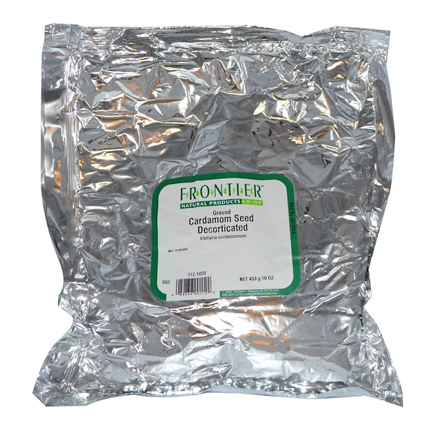 Frontier Natural Products, Ground Cardamom Seed Decorticated, 16 oz (453 g) (Discontinued Item)