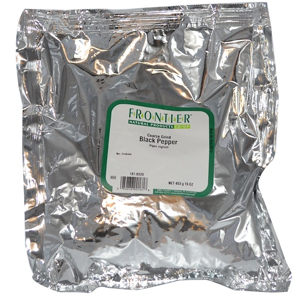 Frontier Natural Products, Coarse Grind Black Pepper, 16 oz (453 g) (Discontinued Item)