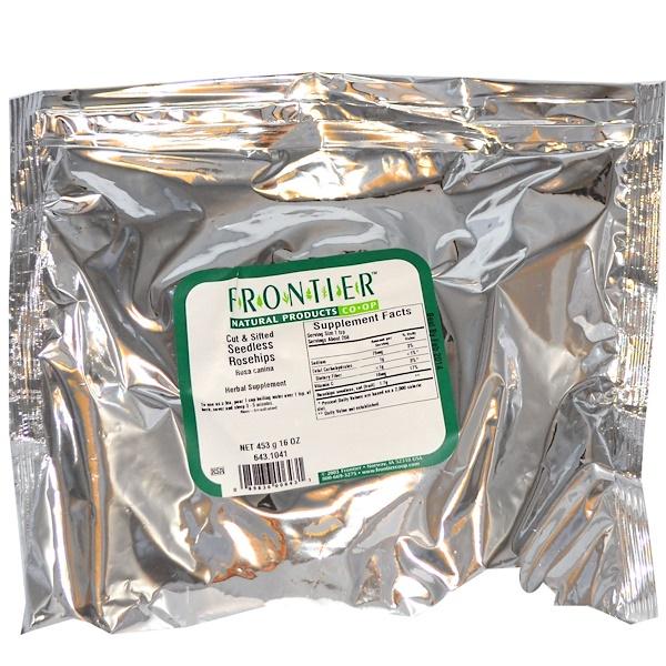 Frontier Natural Products, Измельченный и просеянный шиповник без косточек 16 унции (453 г) (Discontinued Item)