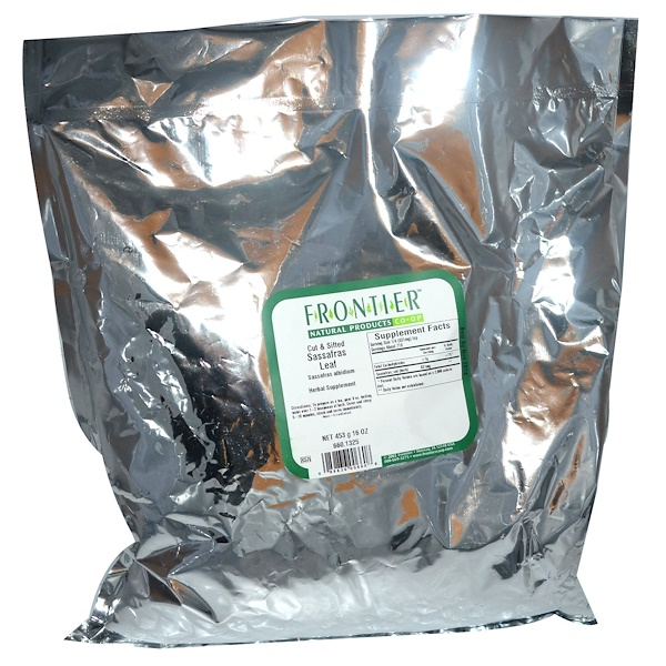 Frontier Natural Products, Sassafras Leaf, Cut & Sifted, 16 oz (453 g) (Discontinued Item)