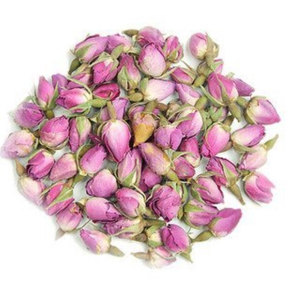 Pink Rosebuds & Petals, Whole, 16 oz (453 g)