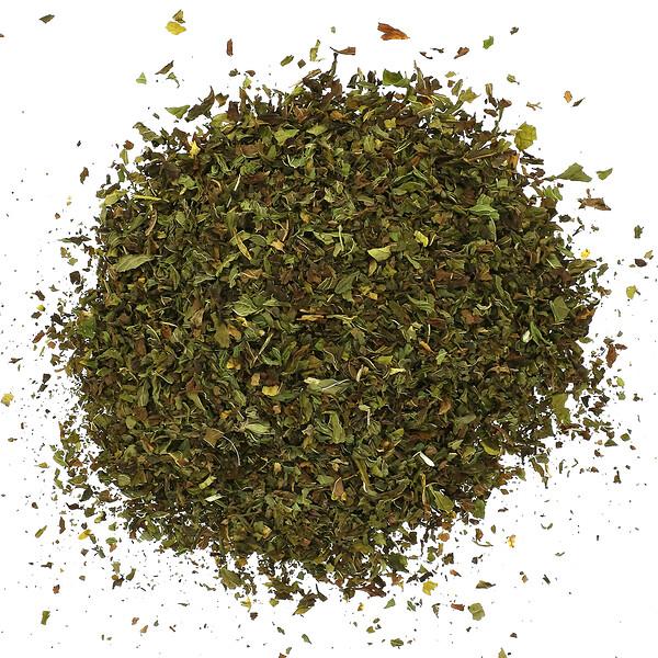 有機切割及篩選綠薄荷葉,16盎司(453克)