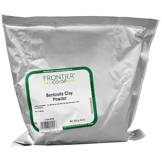 Frontier Natural Products, Bentonite Clay Powder, 16 oz (453 g)