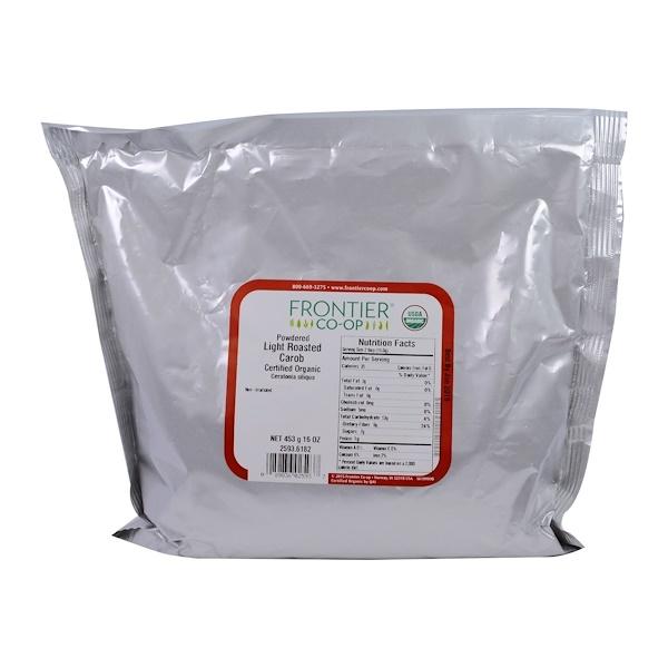 Frontier Natural Products, Органическое Сухое слегка поджаренное рожковое дерево 16 унции (453 г) (Discontinued Item)