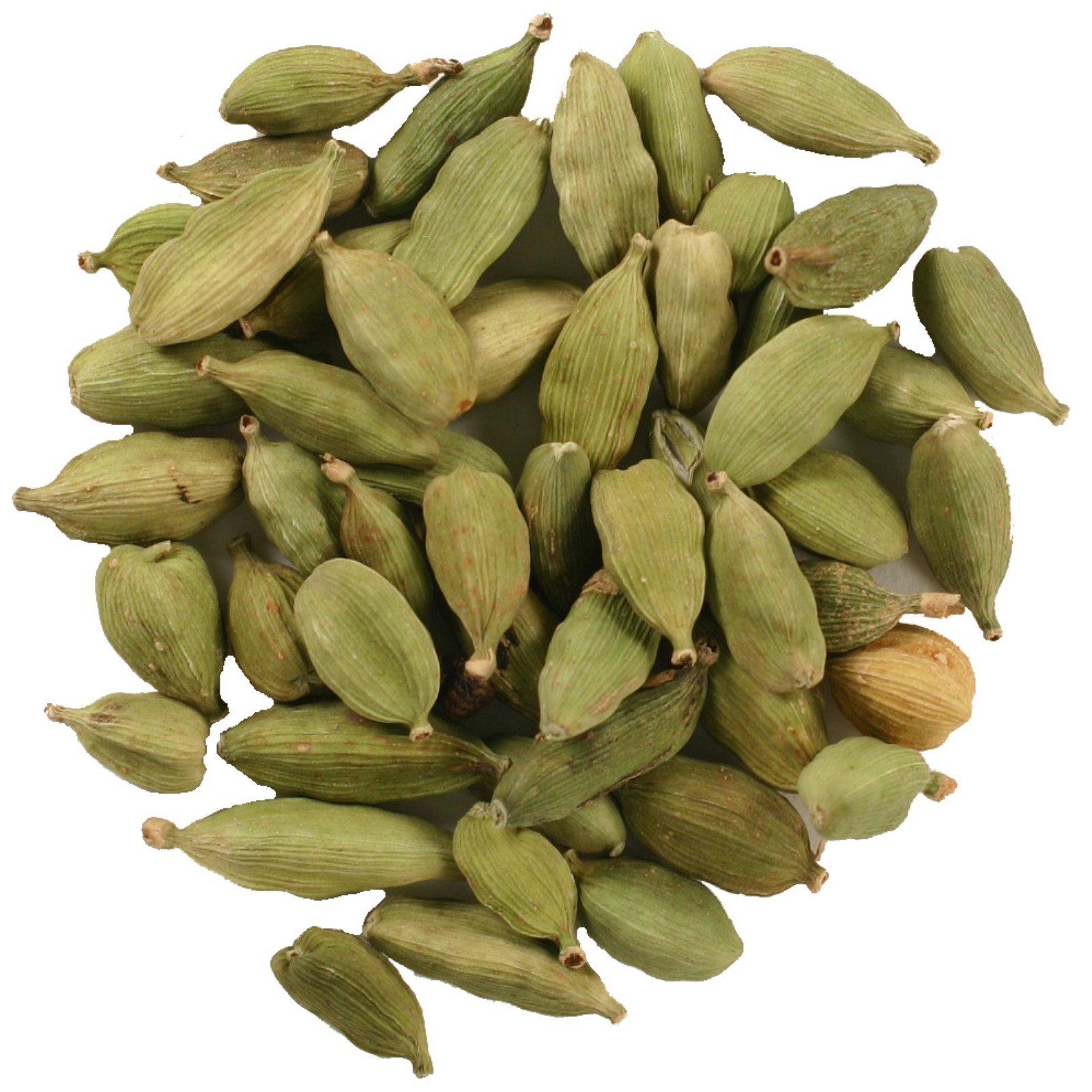 Frontier Natural Products, Органические цельные стручки кардамона, 16 унций (453 г)