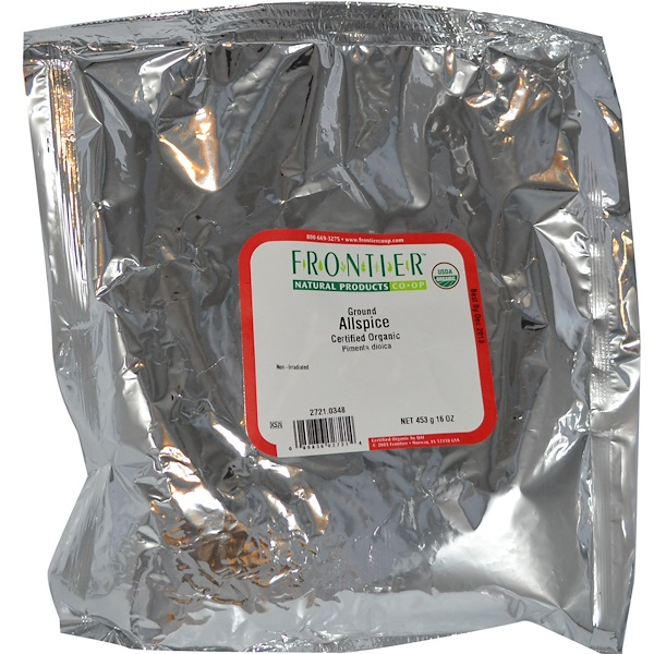 Frontier Natural Products, Organic Ground Allspice, 16 oz (453 g) (Discontinued Item)