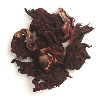 Органические нарезанные и просеянные цветки гибискуса Fair Trade, 16 унций (453 г)
