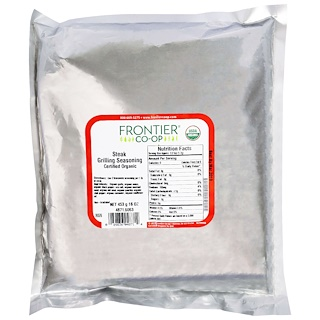 Frontier Natural Products, Organic, Steak Grilling Seasoning, 16 oz (453 g)