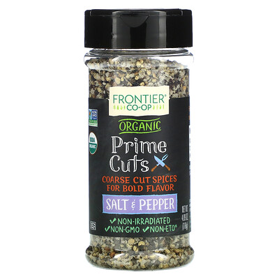 Frontier Natural Products Organic Prime Cuts, Salt & Pepper, 4.09 oz (116 g)