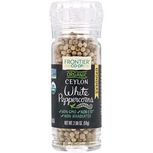 Фронтьер Нэчурал Продактс, Organic Ceylon White Peppercorns, 2.08 oz (59 g) отзывы