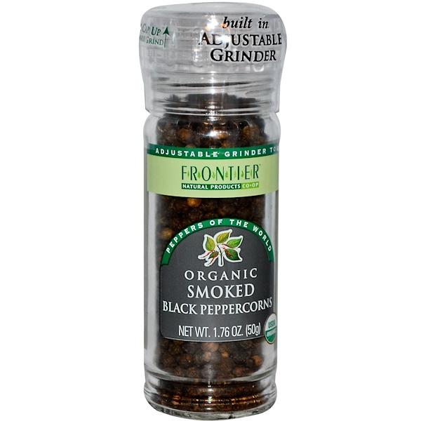Frontier Natural Products, Органический копченый черный перец 1.76 унции (50 g) (Discontinued Item)