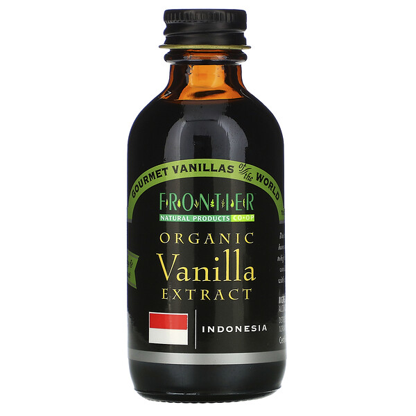 Frontier Natural Products, Organic Vanilla Extract, 2 fl oz (59 ml)