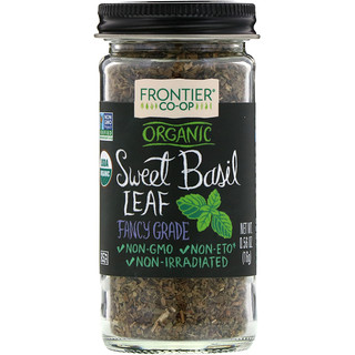Frontier Natural Products, Organic Sweet Basil Leaf Flakes, 0.56 oz (16 g)