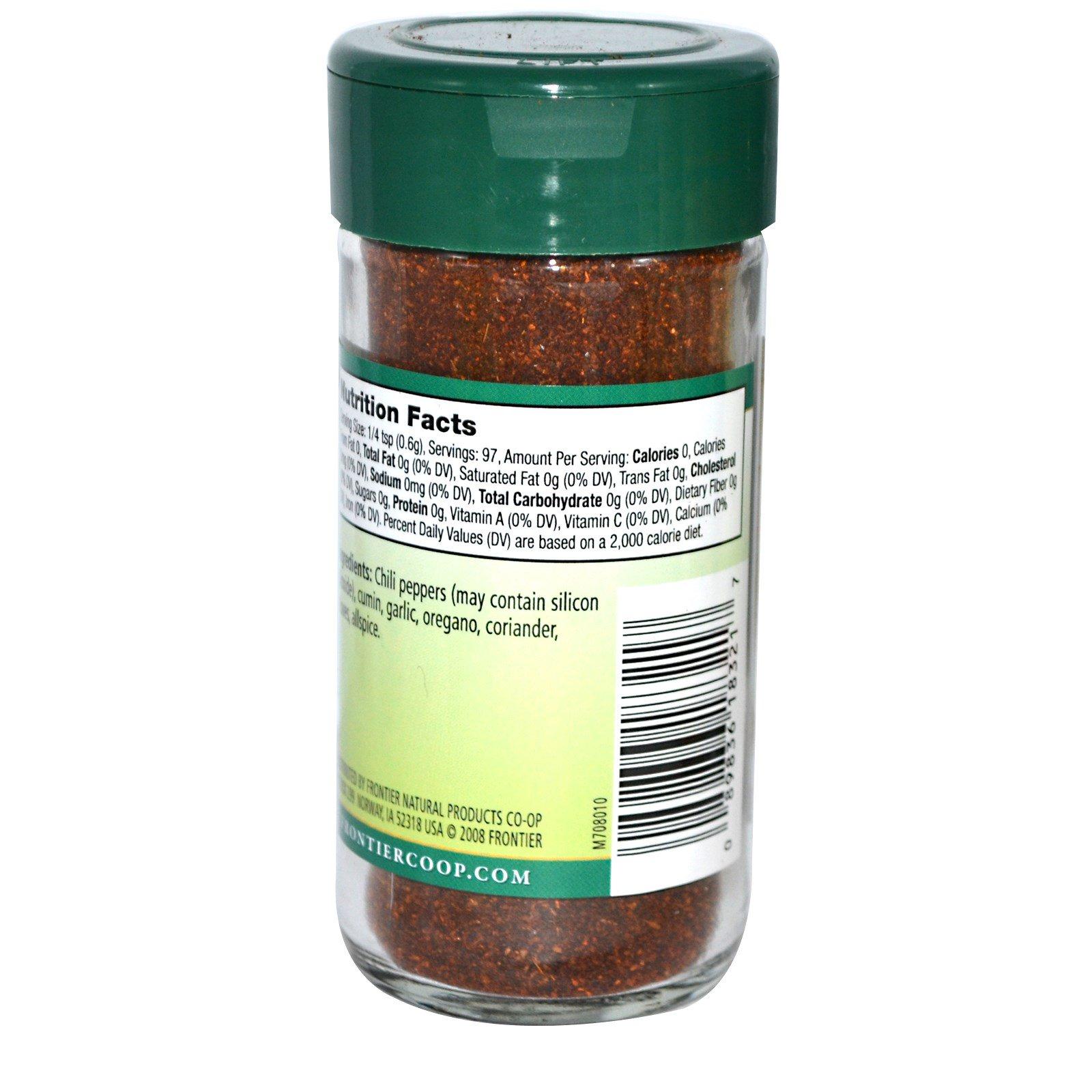 Frontier Natural Products, Перец чили порошок, бессолевая смесь, 2,08 унции (58 г)