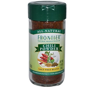 Frontier Natural Products, Chili Powder, Salt-Free Blend, 2.08 oz (58 g)