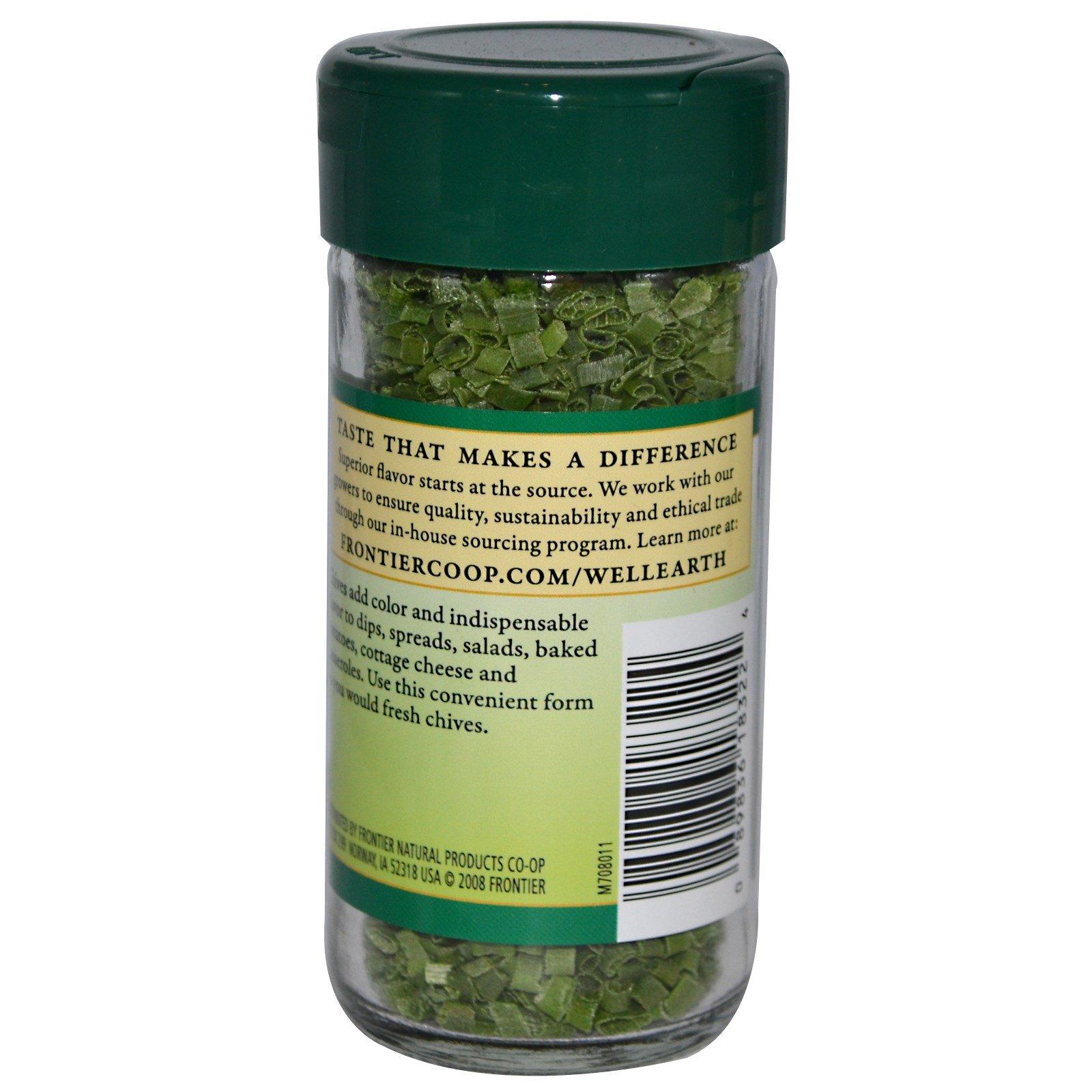 Frontier Natural Products, Шнитт-лук, рубленый, 0,14 унции (4 г)