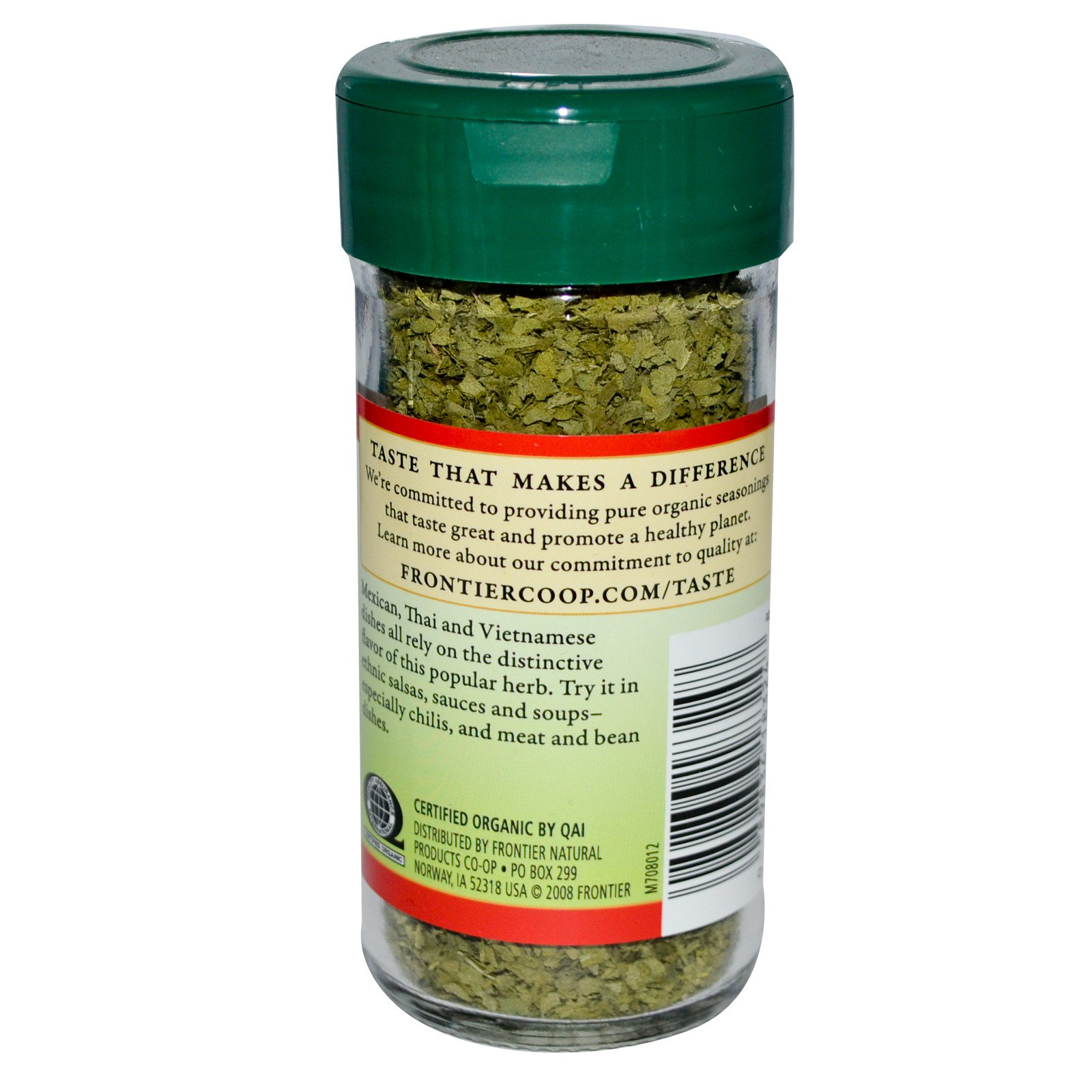 Frontier Natural Products, Органические листья кинзы 0.56 унции (16 г)