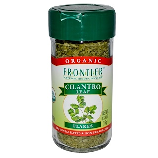 Frontier Natural Products, Organic Cilantro Leaf, Flakes, 0.56 oz (16 g)